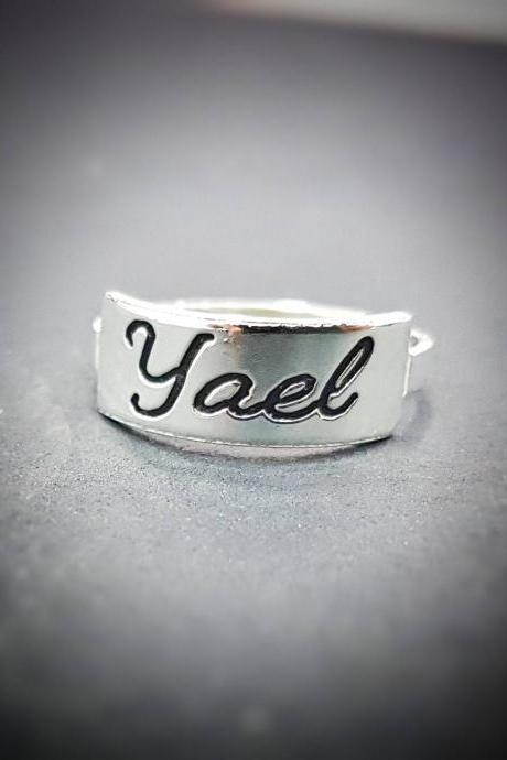 Personalized Ring - Custom Ring - Engraved Ring - Personalized Jewelry - Personalized Gift - Personalized Letter Ring - Sterling Silver Initials Ring - Sterling Silver Ring